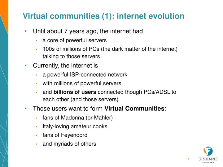 Virtual communities (1): internet evolution