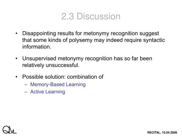 2.3 Discussion