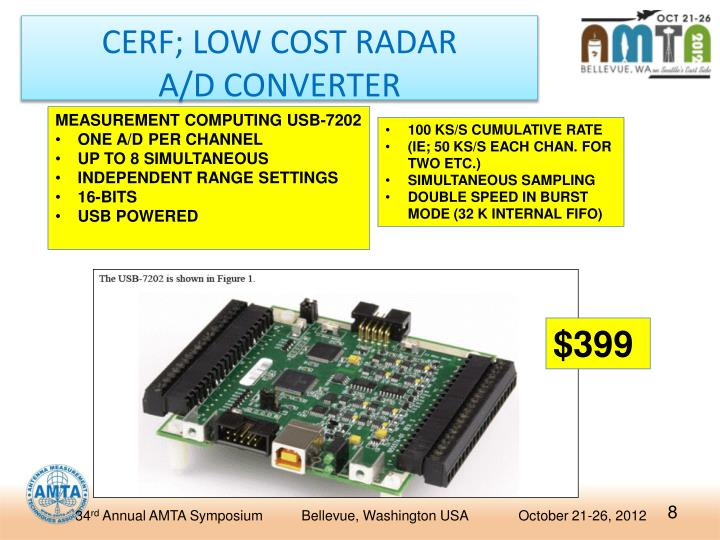CERF; LOW COST RADAR
