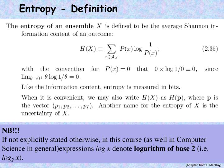 Entropy - Definition