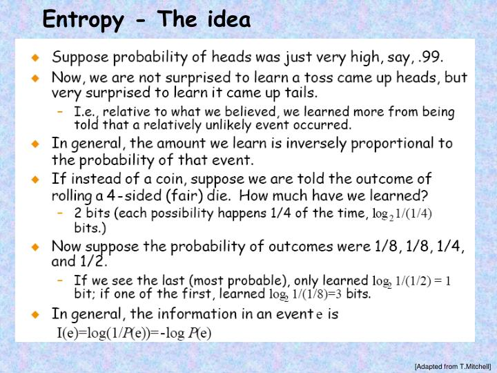 Entropy - The idea