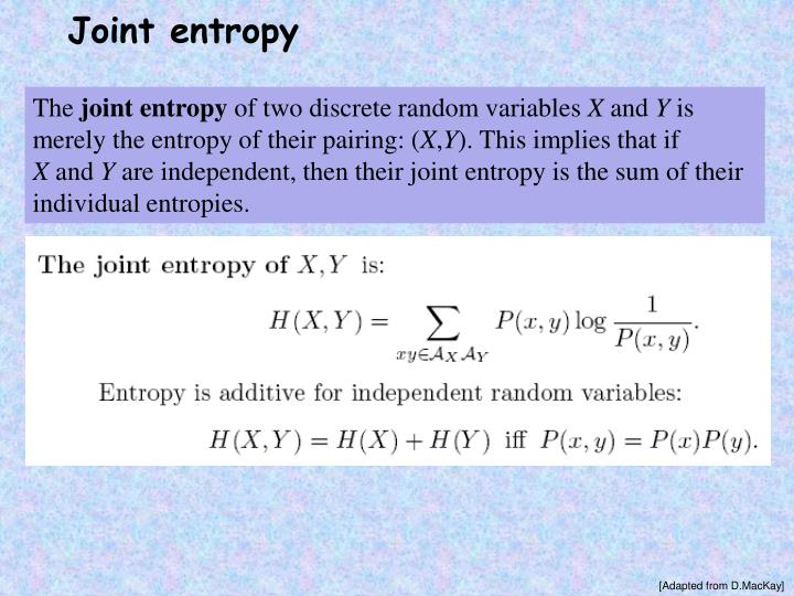 Joint entropy
