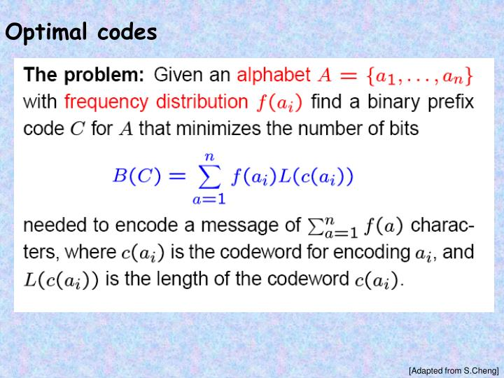 Optimal codes