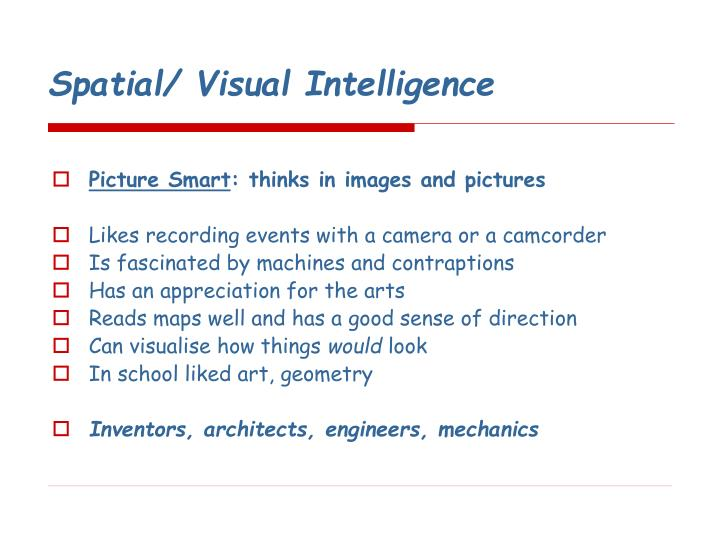 Spatial/ Visual Intelligence