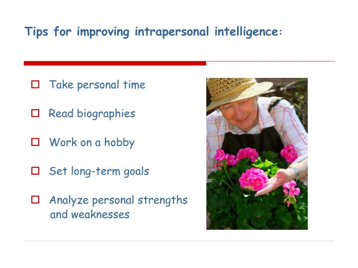 Tips for improving intrapersonal intelligence