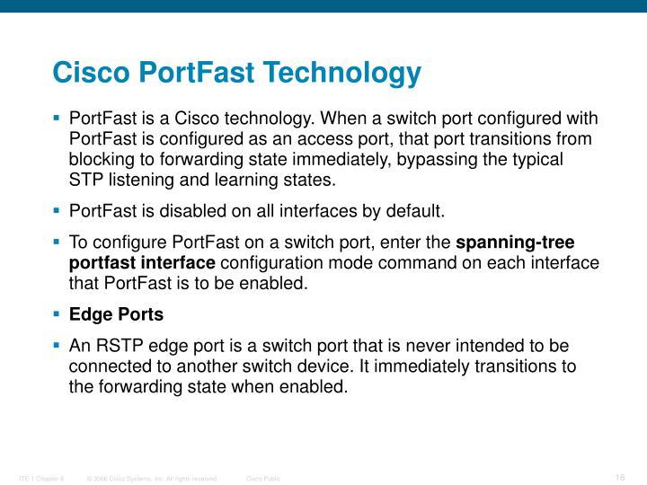 Cisco PortFast Technology