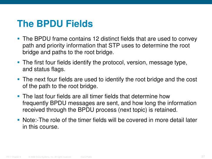The BPDU Fields