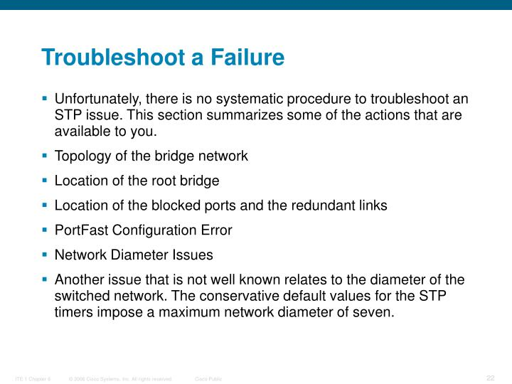 Troubleshoot a Failure