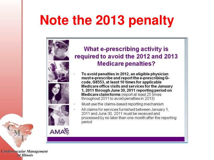 Note the 2013 penalty