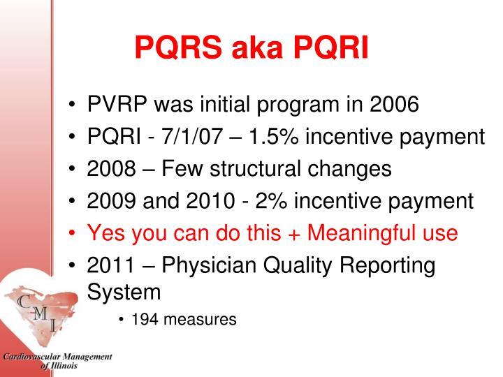PQRS aka PQRI