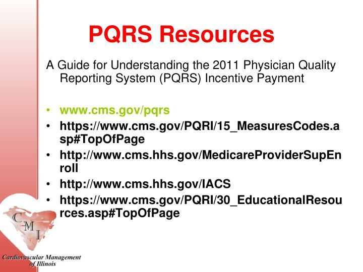 PQRS Resources