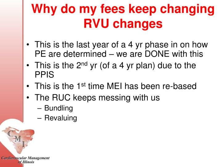 Why do my fees keep changing RVU changes