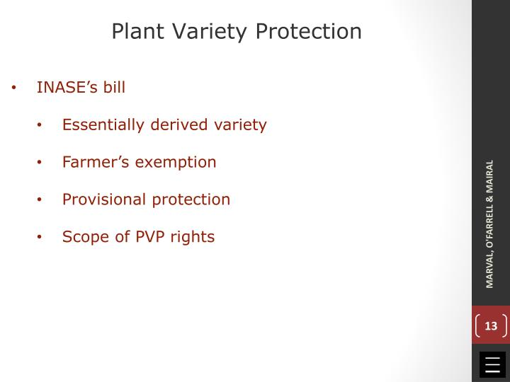 Plant Variety Protection