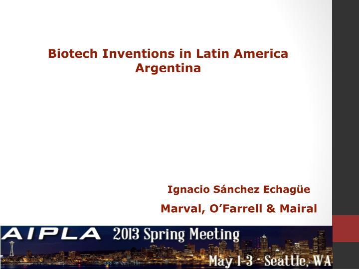 Biotech Inventions in Latin America