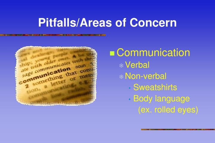 Pitfalls/Areas of Concern