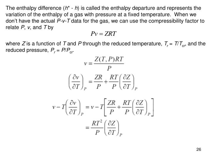 The enthalpy difference (