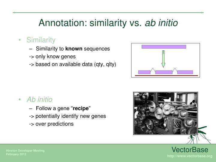 Annotation: similarity vs.