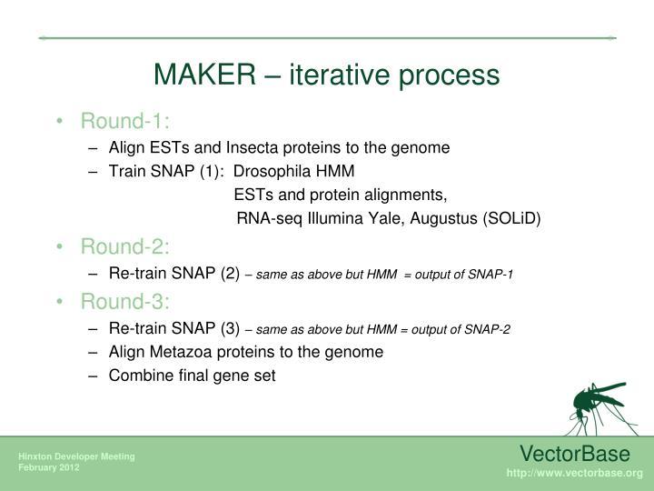 MAKER – iterative process