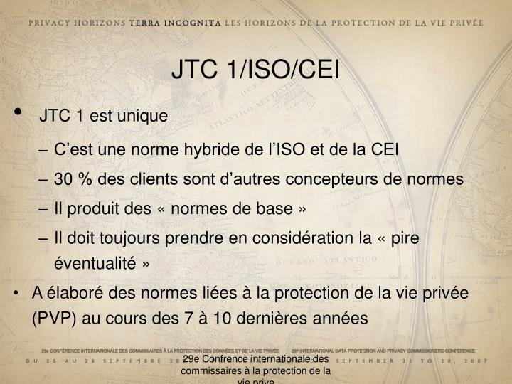JTC 1/ISO/CEI