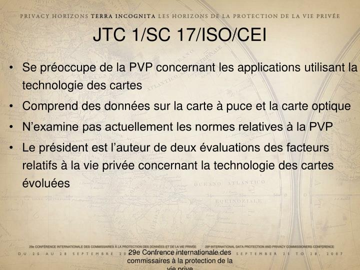 JTC 1/SC 17/ISO/CEI
