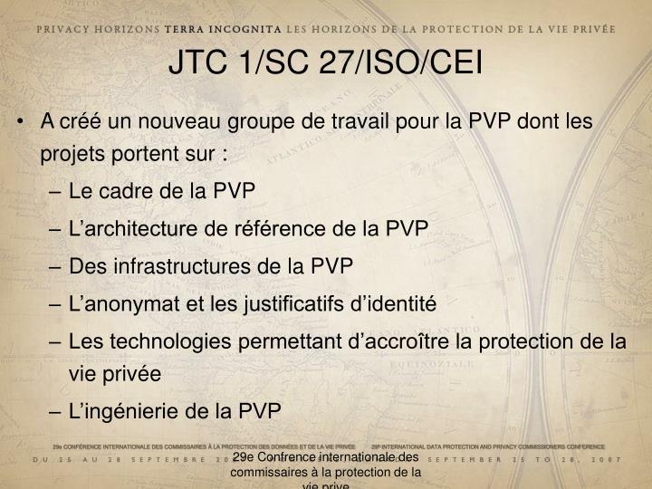JTC 1/SC 27/ISO/CEI