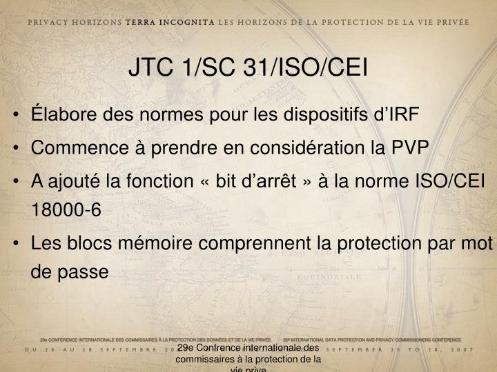 JTC 1/SC 31/ISO/CEI