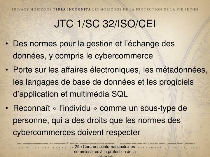JTC 1/SC 32/ISO/CEI