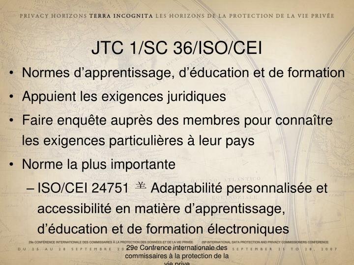 JTC 1/SC 36/ISO/CEI