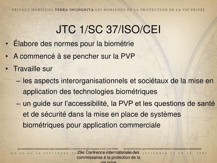 JTC 1/SC 37/ISO/CEI