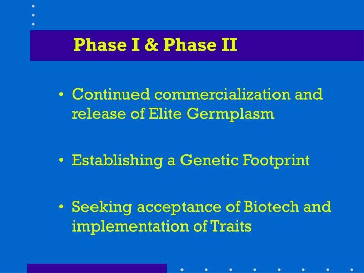 Phase I & Phase II