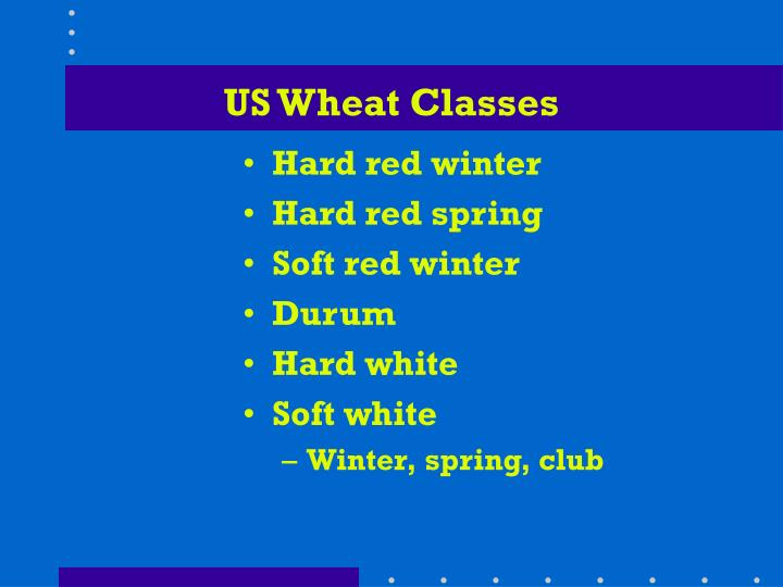 US Wheat Classes