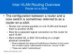 inter vlan routing overview router on a stick