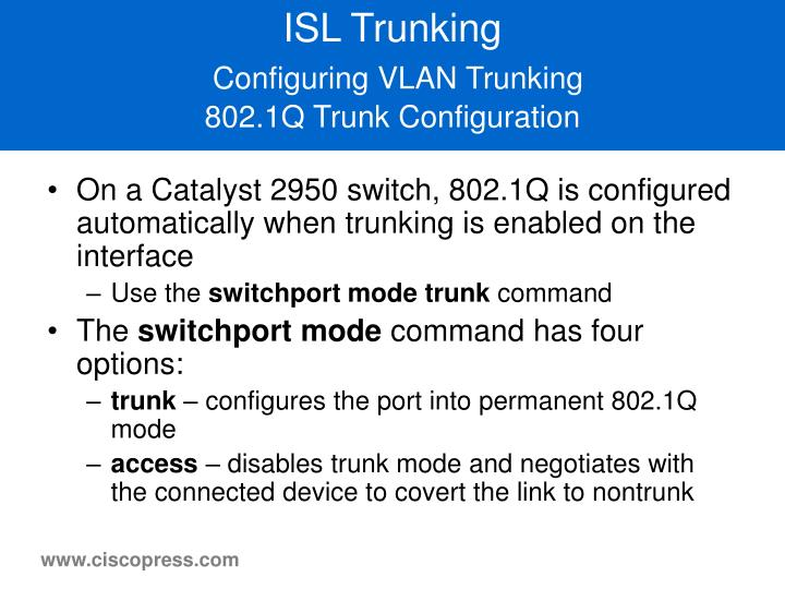 ISL Trunking