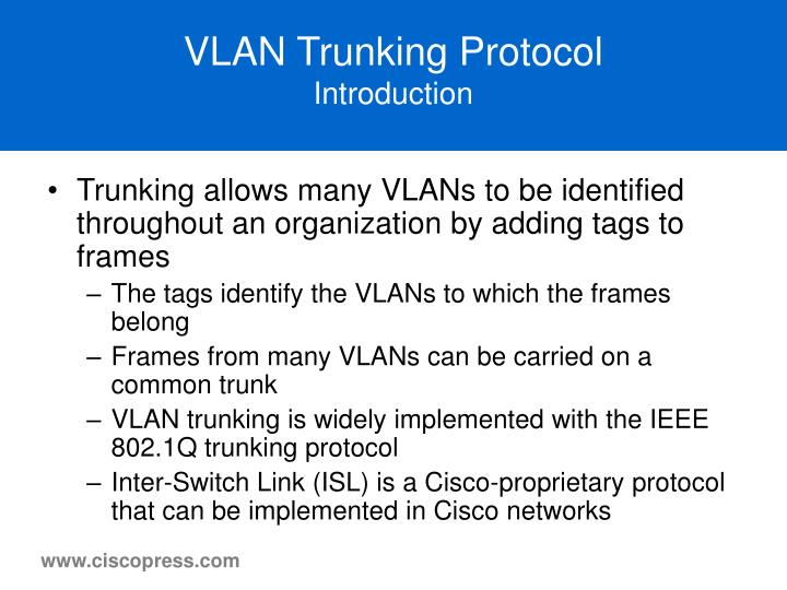 Vlan trunking protocol introduction1