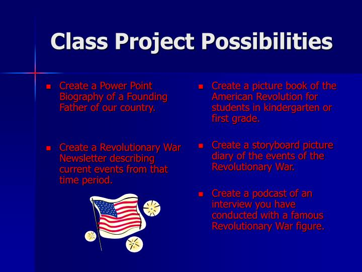 Class project possibilities