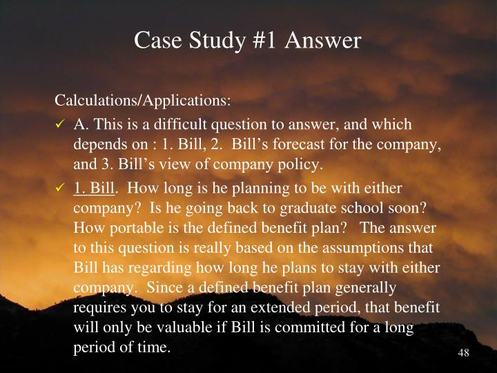 Case Study #1 Answer