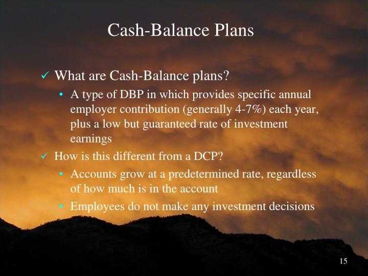 Cash-Balance Plans