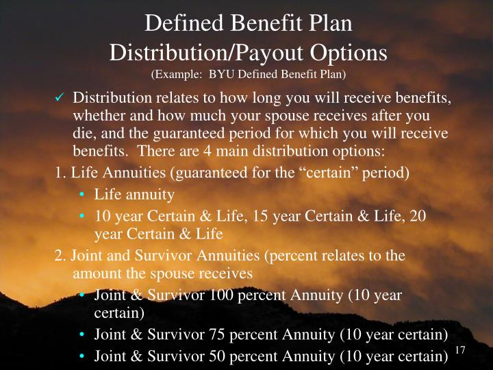 Defined Benefit Plan