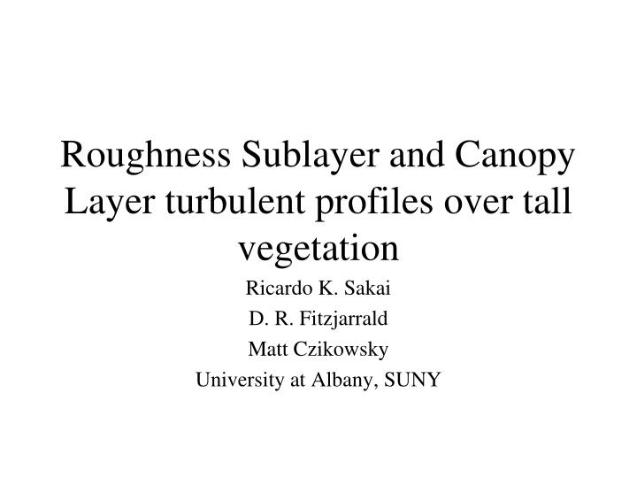 Roughness Sublayer and Canopy Layer turbulent profiles over tall vegetation