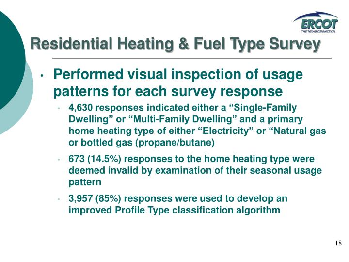 Residential Heating & Fuel Type Survey