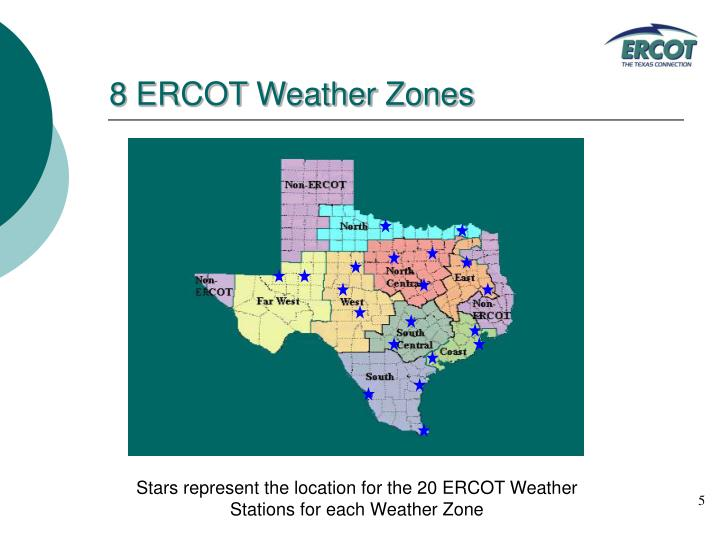 8 ERCOT Weather Zones