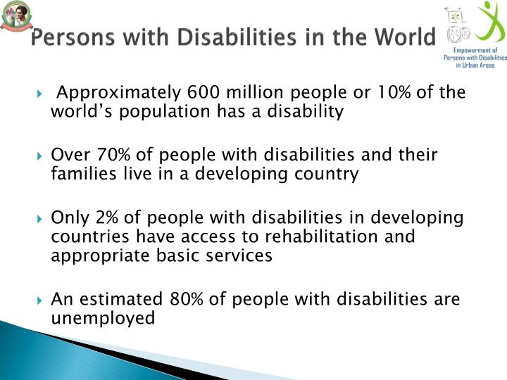 Persons with Disabilities in the World