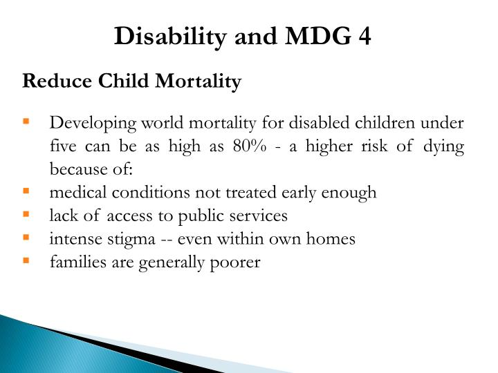 Disability and MDG 4