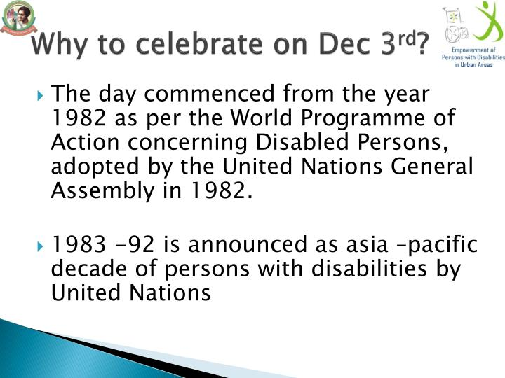 Why to celebrate on Dec 3