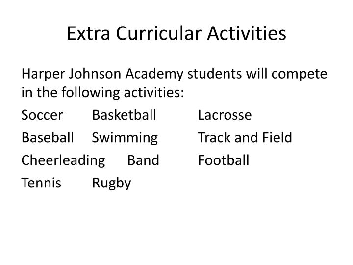 Extra Curricular Activities