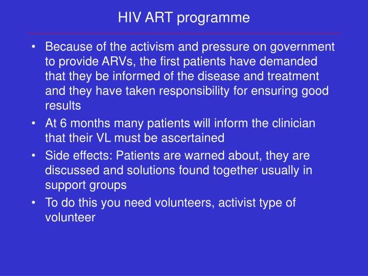 HIV ART programme
