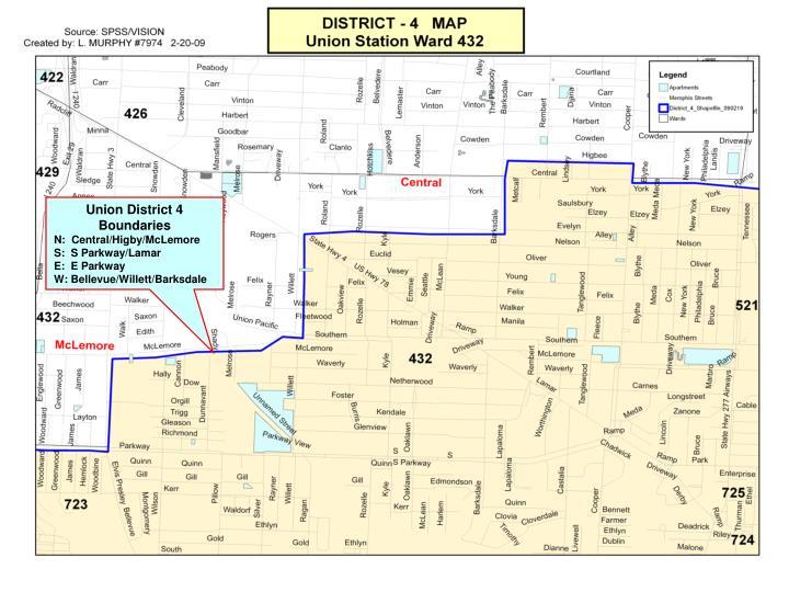 Union District 4 Boundaries