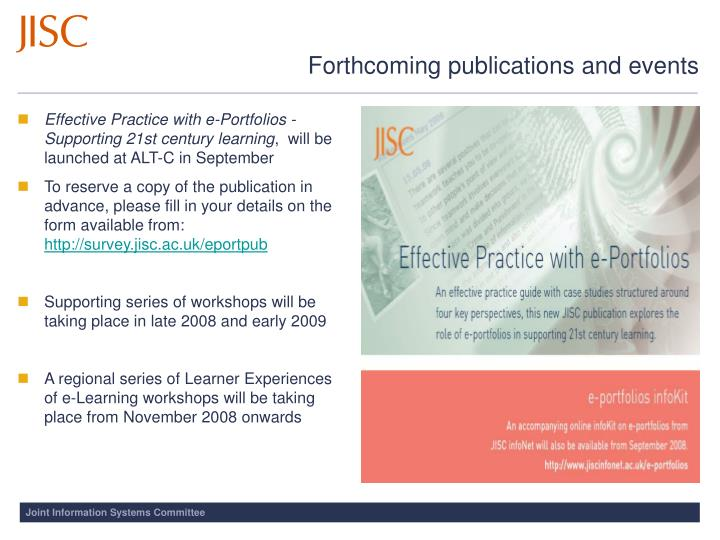 Effective Practice with e-Portfolios - Supporting 21st century learning
