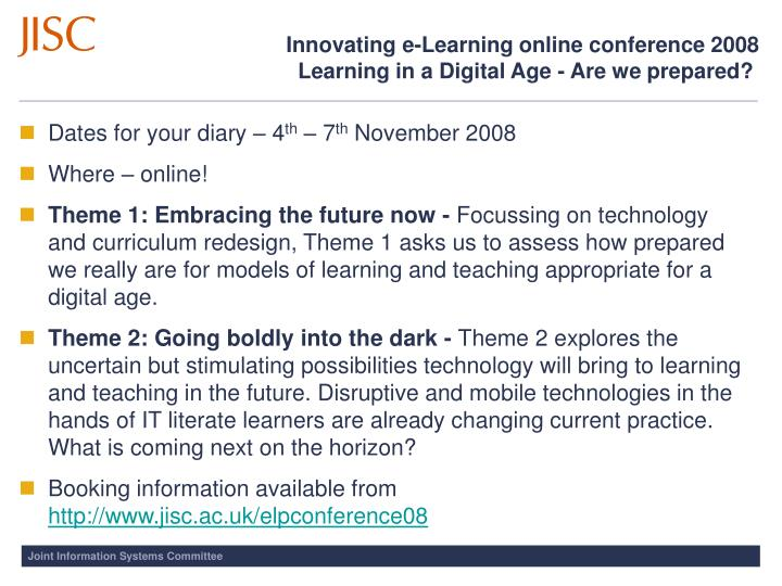 Innovating e-Learning online conference 2008