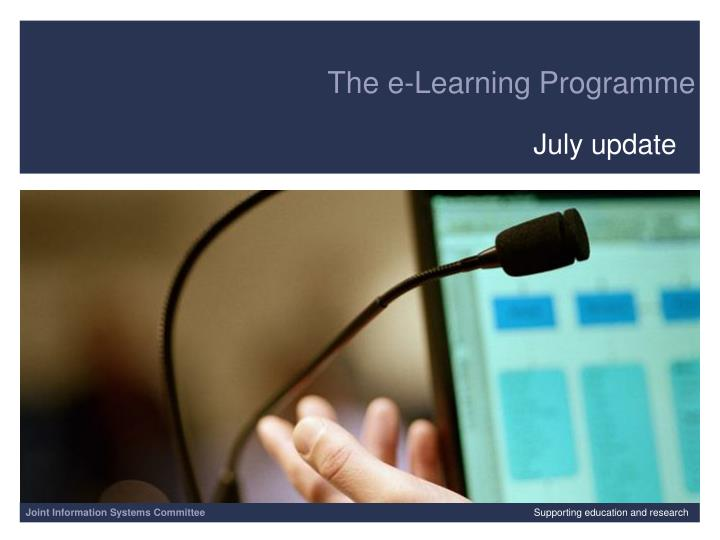 The e-Learning Programme